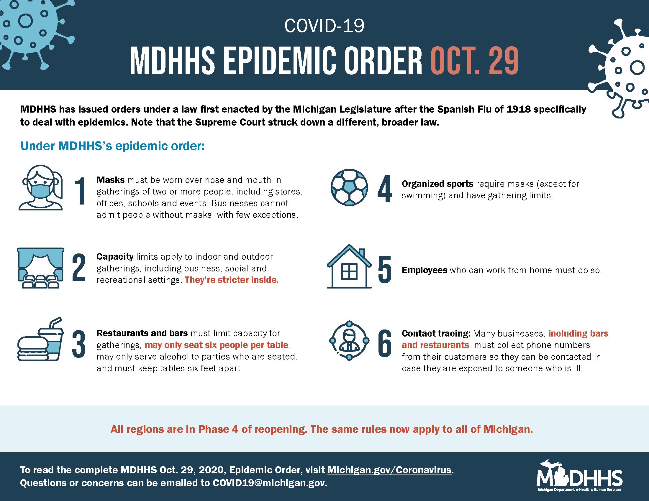 MDHHS Epidemic Order